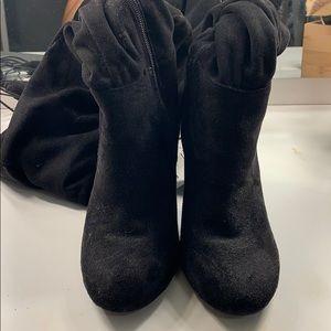Black thigh high boots!